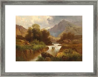 Mountain Landscape Framed Print by Celestial Images