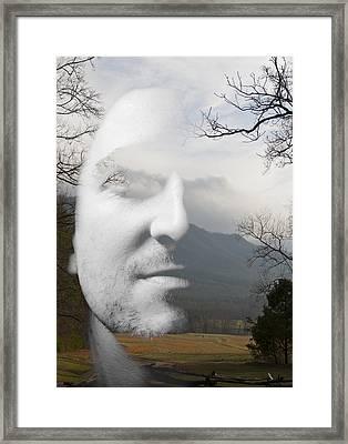 Mountain Man Framed Print by Christopher Gaston