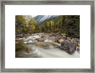 Mountain Mist Framed Print by Leland D Howard