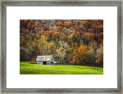 Mountain Mood Framed Print by Debra and Dave Vanderlaan