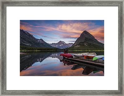 Mountain Morning Framed Print by Andrew Soundarajan