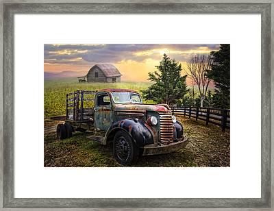 Mountain Morning Framed Print by Debra and Dave Vanderlaan