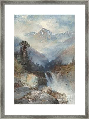 Mountain Of The Holy Cross Framed Print by Thomas Moran