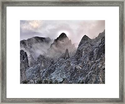 Mountain Peaks Framed Print by Leland D Howard