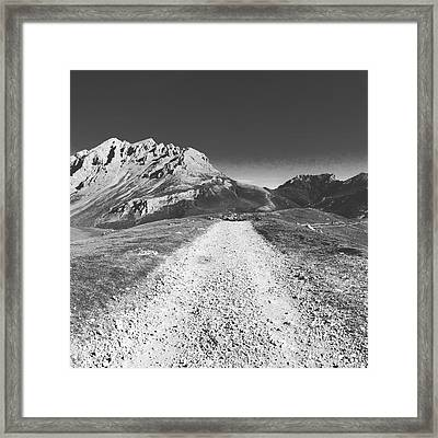 Mountain Road Framed Print by Contemporary Art