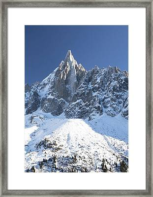 Mountain Scenery - Chamonix Framed Print by Pat Speirs