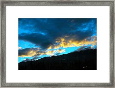 Mountain Silhouette Framed Print by Madeline Ellis