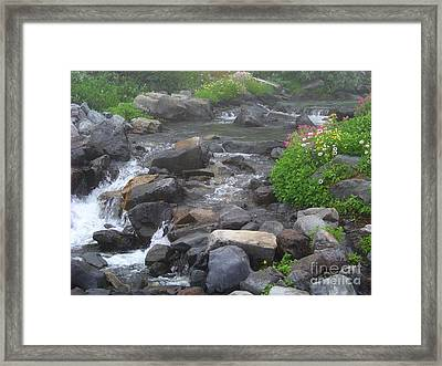 Mountain Stream Framed Print by Charles Robinson