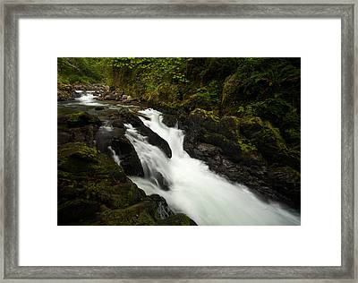 Mountain Stream Framed Print by Mike Reid