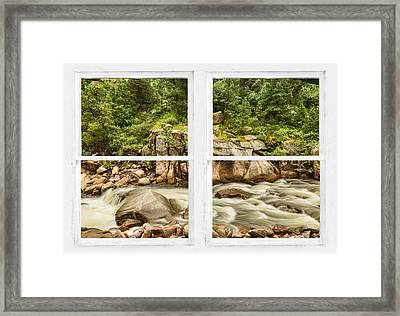 Mountain Stream Whitewash Window View Framed Print by James BO  Insogna