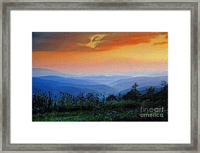 Mountain Sunrise Framed Print by Lois Bryan
