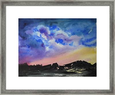 Mountain Sunset Framed Print by Bitten Kari