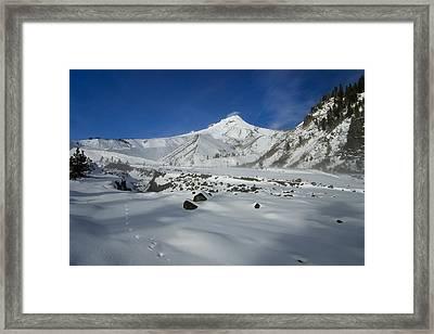 Mountain Tracks Framed Print by Mike  Dawson
