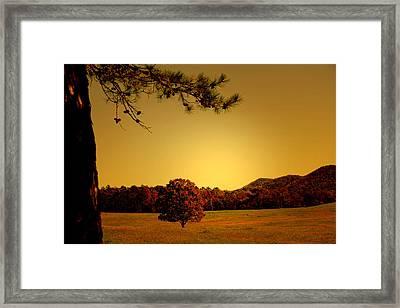Mountain Valley Framed Print by Nina Fosdick