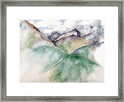 Mountain View Colorado Framed Print by Catherine Twomey