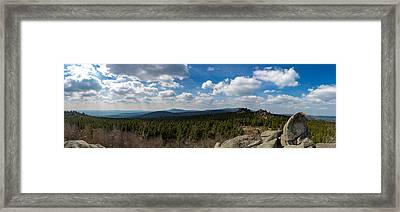 mountain view, Harz Framed Print by Andreas Levi