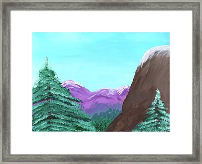 Mountain View Framed Print by M Valeriano