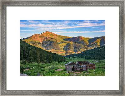Mountain Views Framed Print by Darren White