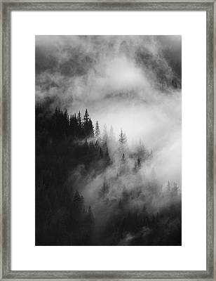 Mountain Whispers Framed Print by Mike  Dawson