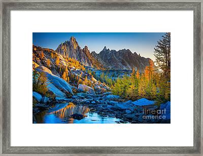 Mountainous Paradise Framed Print by Inge Johnsson