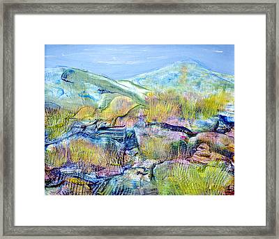 Mountains And Marsh Framed Print by Regina Valluzzi