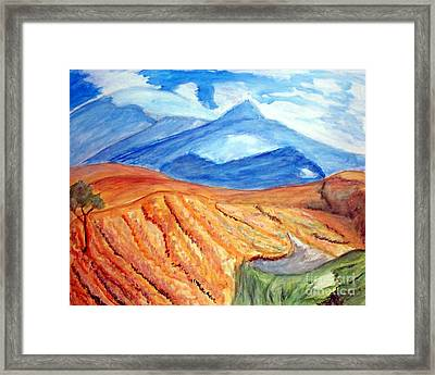 Mountains In Mexico Framed Print by Stanley Morganstein