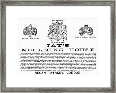 Mourning House, 1891 Framed Print by Granger