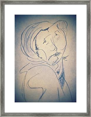 Mourning Widow Framed Print by Ryan Adams