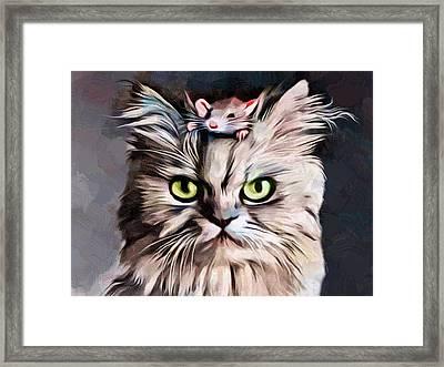 Mousetrap Portrait  Framed Print by Scott Wallace