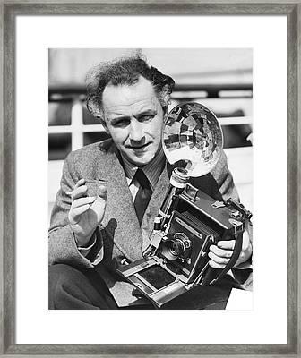 Movie Director Arnold Franck Framed Print by Underwood Archives