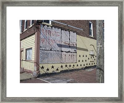 Movie Madness Murder Framed Print by Donovan Hubbard