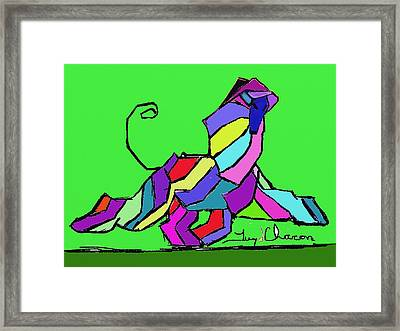 Moving Af In Green Framed Print by Terry Chacon