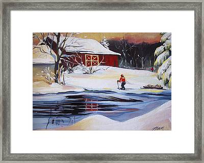 Moving Into Winter Haven Framed Print by Nancy Griswold