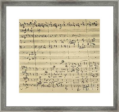 Mozart: Requiem Excerpt Framed Print by Granger
