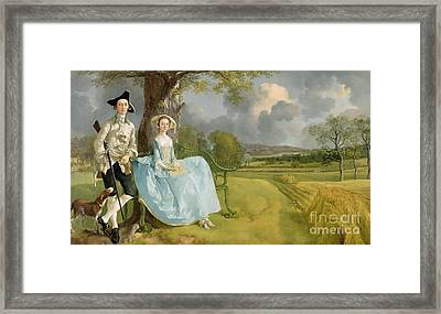 Mr And Mrs Andrews Framed Print by Thomas Gainsborough