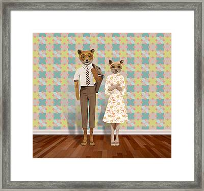Mr. And Mrs. Fox Framed Print by Rachel Mindes