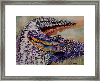 Mr And Mrs Framed Print by Maria Barry