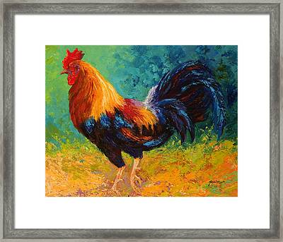 Mr Big - Rooster Framed Print by Marion Rose