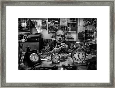 Mr. Domenico L'orologiaio Framed Print by Antonio Grambone