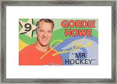 Mr. Hockey Gordie Howe Collectable Framed Print by Pd