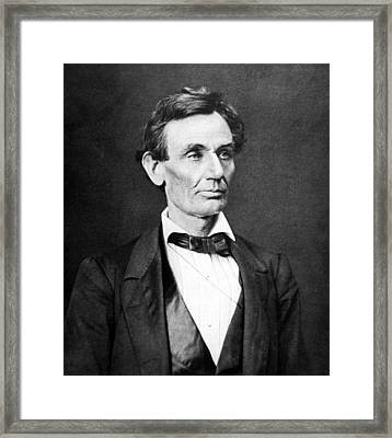 Mr. Lincoln Framed Print by War Is Hell Store