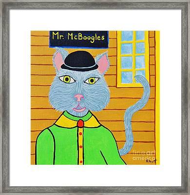 Mr. Mcboogles Framed Print by Reb Frost