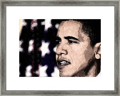 Mr. President Framed Print by LeeAnn Alexander