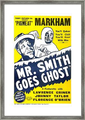 Mr Smith Goes Ghost 1939 Framed Print by Mountain Dreams
