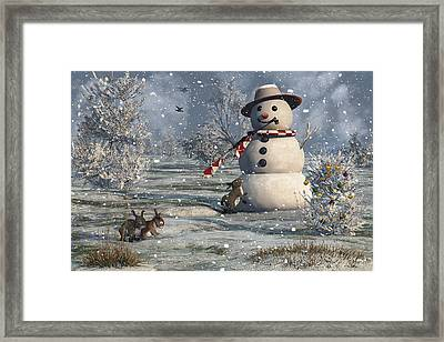 Mr Snowman Framed Print by Mary Almond