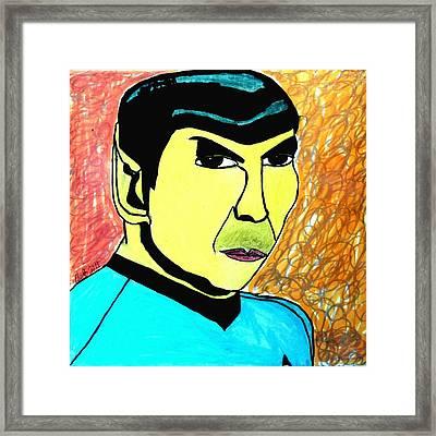 Mr. Spock Framed Print by Paulo Guimaraes