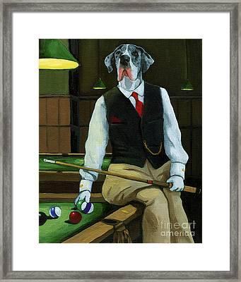 Mr. Thomas Tudor - Great Dane Portrait Framed Print by Linda Apple