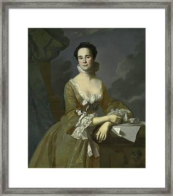 Mrs Daniel Hubbard  Framed Print by John Singleton Copley