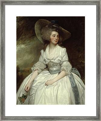 Mrs Francis Russell Framed Print by George Romney