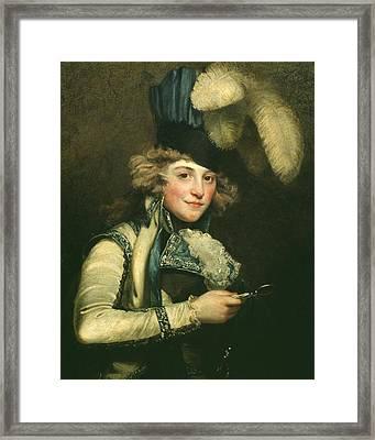 Mrs Jordan As Hypolita Framed Print by John Hoppner